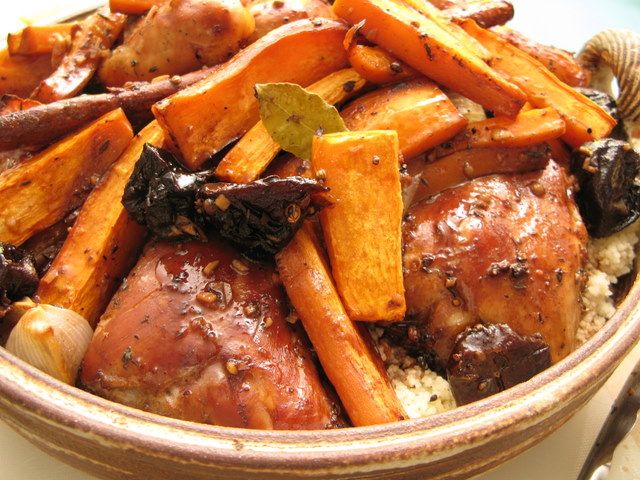 עוף ברוטב תבלינים עם קוסקוס ירקות