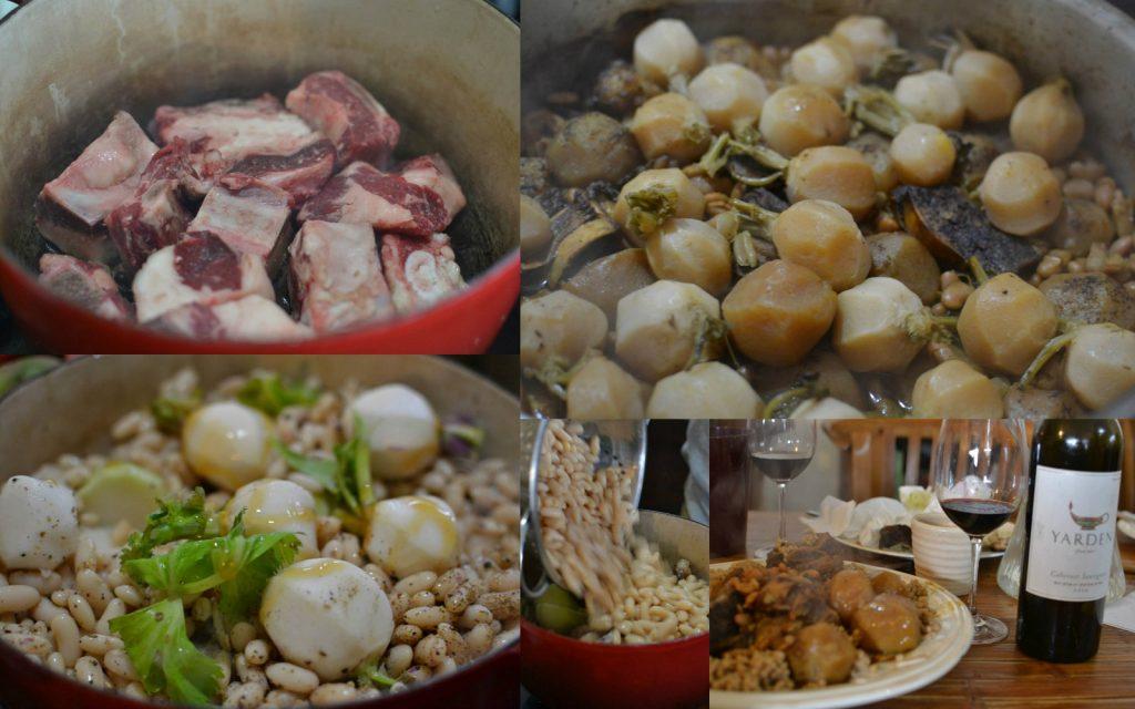 תבשיל שפונדרה ולפתות עם קוסקוס גלילי