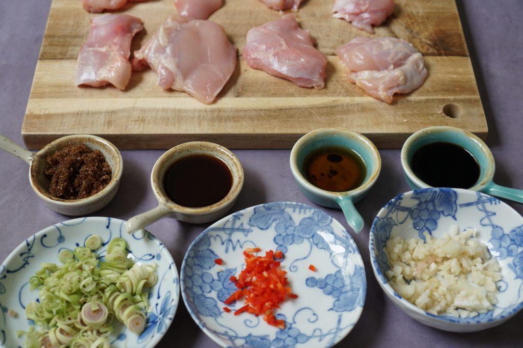 הכנת Bun ga nuong